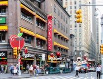 Applebee ` s restauracja w Manhattan obrazy stock