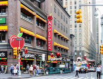 Applebee`s Restaurant in Manhattan. stock images
