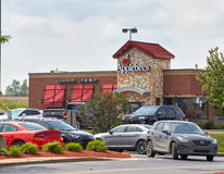 Applebee's restaurant and parking. royalty free stock photo