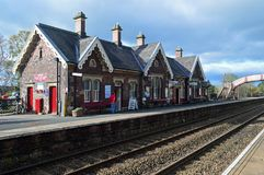 Appleby--Westmorland Na estação, Cumbria Reino Unido imagens de stock royalty free