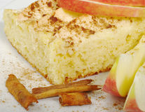 Applecake on Plate Royalty Free Stock Photos