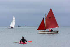 APPLEDORE, DEVON/UK - AUGUST 14 : Sailing in the Torridge and Ta Stock Image