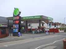Low price fuel petrol station. An Applegreen low price fuel gas station in Berrow Road in Burnham-on-Sea in Somerset, England Royalty Free Stock Image