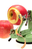 Appler peeler with two red apple Royalty Free Stock Image