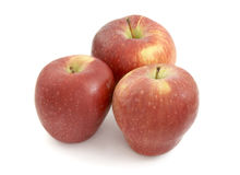 Apples 1. Close up of fresh apples on white background, with clipping path Stock Photos