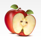 Apples. Two red apples on a white background Stock Images