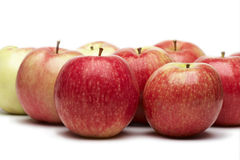 Apples. A few red apples on a white background Stock Photo