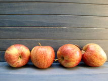 Apples. Red apples in a row Stock Image