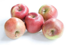 Apples. A selection of Braeburn apples against a white background Royalty Free Stock Photography