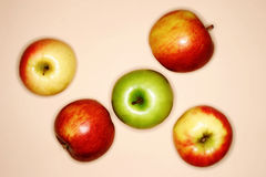 Apples. Red and green apples Royalty Free Stock Photography