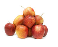 Apples. Heap of fresh apples on white background royalty free stock photography