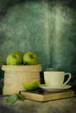 Apples. The basket of apples with vintage style Royalty Free Stock Photo