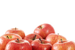 Apples. Some apples on white background Stock Photos
