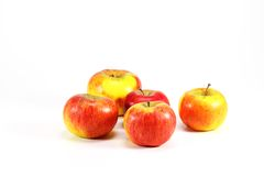 Apples. On isolated white  background Royalty Free Stock Images