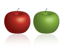 Apples. Two Green and Red Apples Illustration. Additional formats available Royalty Free Stock Image