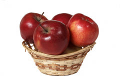 Apples. Are in the basket. delicious fruit still life Royalty Free Stock Image