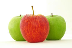 Apples. Red green apples isolated on withe Royalty Free Stock Photo