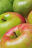 Apples. Close-up of green delicious apples stock photography