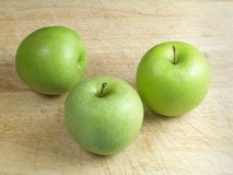 Apples. On wood royalty free stock images