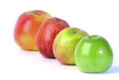Apples. 4 apple 4 you... 4 healthy nutrition Stock Photos