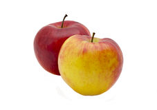 Apples. Red and yellow apples isolated on a white background Royalty Free Stock Photo