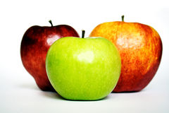 Apples. Three apples Royalty Free Stock Photo
