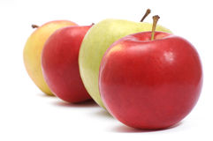 Apples. Standing out from the crowd Royalty Free Stock Photography