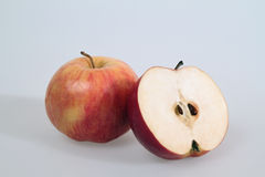 Apples. An apple and a half stock photography
