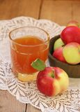Apples and apple juice Royalty Free Stock Images
