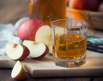 Apples and apple juice Stock Image