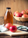 Apples and apple juice Stock Photography