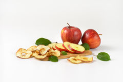 Apples and apple rings Royalty Free Stock Images