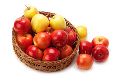 Apples arranged in a basket Royalty Free Stock Photo