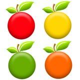 apples art clip round бесплатная иллюстрация