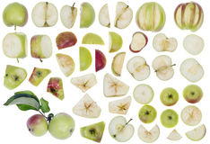Apples as elements for design Stock Photos