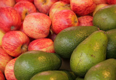 Apples and avocadoes Stock Image