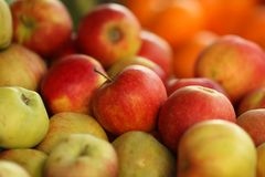 Apples background Stock Photo
