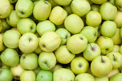 Apples background Green apple Raw fruit and vegetable backgrounds overhead perspective Stock Images