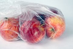 Apples in a Bag Stock Photos