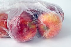 Apples in a Bag Stock Images