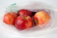 Apples in a Bag Royalty Free Stock Image