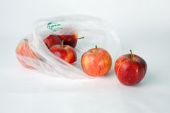 Apples in a Bag Royalty Free Stock Photos
