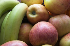 Apples and bananas Stock Photography