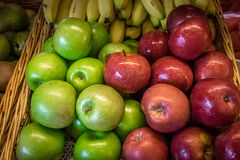 Apples and bananas Stock Images