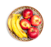 Apples and bananas Stock Photo
