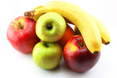 Apples, bananas and orange Royalty Free Stock Photo