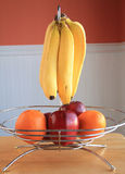 Apples and bananas and oranges fruit bowl Stock Photography