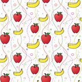 Apples and Bananas seamless pattern Royalty Free Stock Image