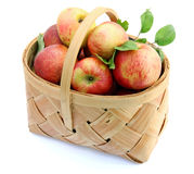 Apples on basket Stock Photo