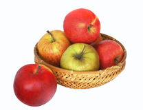 Apples in a basket. Red and green apples in a basket Stock Photo